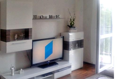 nowoczesny salon w luksusowym apartamencie do sprzedaży w Katowicach