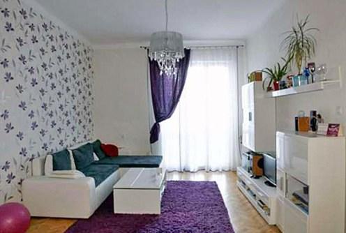 elegancki salon w luksusowym apartamencie do wynajęcia w Szczecinie