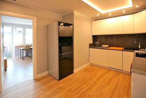 nowoczesne wnętrze kuchni w luksusowym apartamencie do wynajęcia w Szczecinie