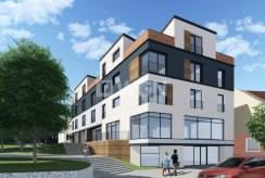 zdjęcie prezentuje apartamentowiec w Kwidzynie, w którym znajduje się oferowany do sprzedaży luksusowy apartament