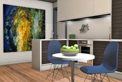 widok na jadalnię w luksusowym apartamencie do sprzedaży w Kwidzynie