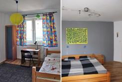 po lewej pokój dziecięcy, po prawej sypialnia w luksusowym apartamencie w Kaliszu na wynajem