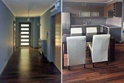 po lewej przedpokój, po prawej kuchnia w ekskluzywnym apartamencie do wynajmu w Szczecinie