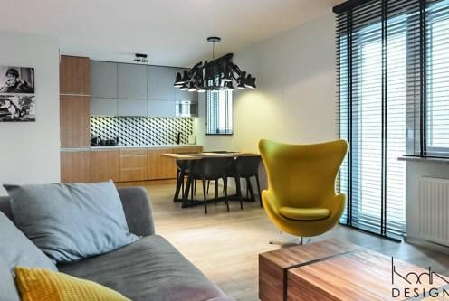 nowoczesne wnętrze ekskluzywnego apartamentu do wynajęcia w Szczecinie