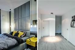 po lewej sypialnia, po prawej przedpokój w luksusowym apartamencie w Szczecinie na wynajem
