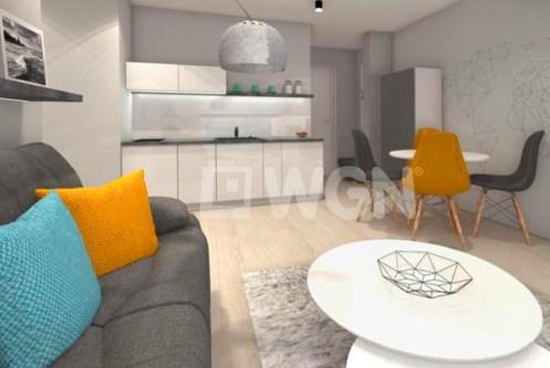 widok od strony salonu na ekskluzywne wnętrze luksusowego apartamentu do sprzedaży nad morzem