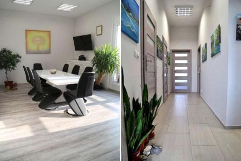 po lewej salon, po prawej przedpokój w ekskluzywnym apartamencie do sprzedaży w Katowicach