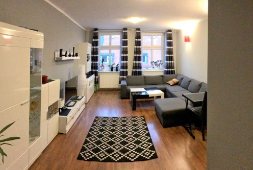 komfortowe salon w ekskluzywnym apartamencie do sprzedaży w Szczecinie