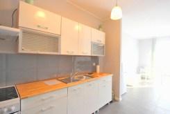umeblowana i urządzona kuchnia w luksusowym apartamencie w Szczecinie na wynajem