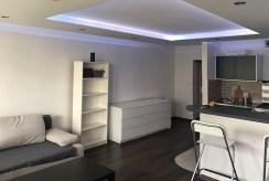 widok n luksusowy salon w ekskluzywnym apartamencie do wynajmu w Katowicach