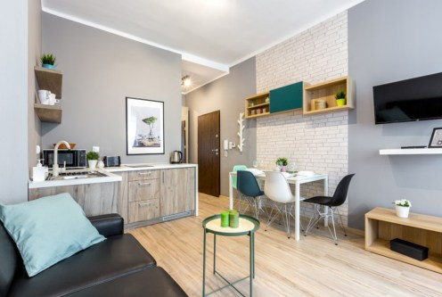 nowoczesne wnętrze ekskluzywnego apartamentu do sprzedaży w Krakowie