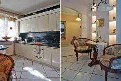 po lewej kuchnia, po prawej przedpokój w luksusowej willi we Wrocławiu na sprzedaż