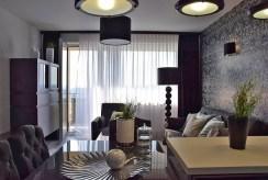 widok na salon w luksusowym apartamencie do wynajmu w Słupsku