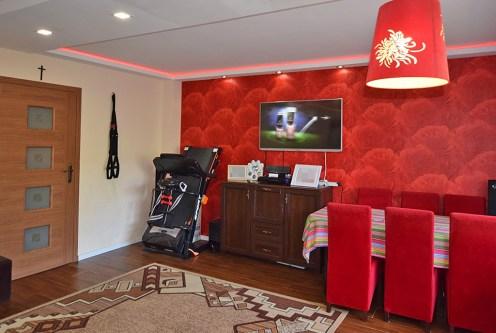 nowoczesny salon w ekskluzywnym apartamencie do sprzedaży w Białymstoku