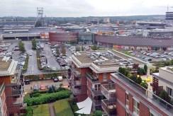 widok z okien na okolicę, jaki roztacza się z luksusowego apartamentu w Katowicach na wynajem