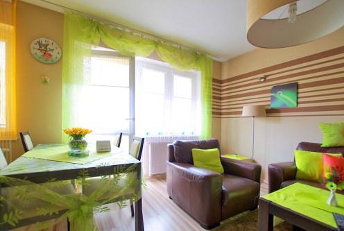 nowoczesny salon w ekskluzywnym apartamencie do wynajęcia w okolicach Legnicy