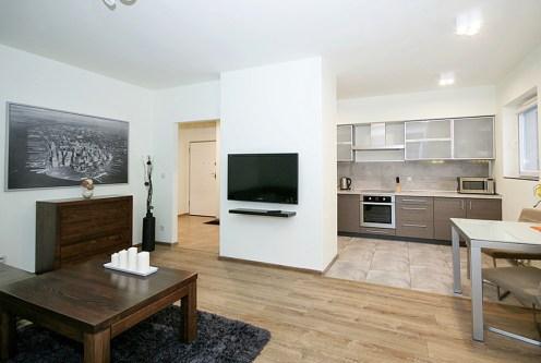 komfortowe i przestronne wnętrze ekskluzywnego apartamentu do wynajęcia w Katowicach