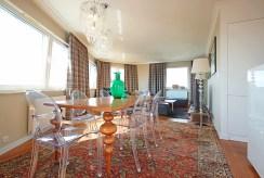 widok na jadalnię w luksusowym apartamencie do wynajmu w Szczecinie