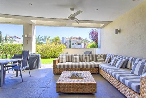 salon w ekskluzywnym apartamencie do sprzedaży w Hiszpanii (Costa del Sol, Malaga)