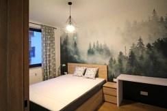 prywatna, elegancka sypialnia w luksusowym apartamencie w Krakowie na wynajem