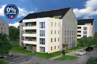 widok na elitarny apartamentowiec w okolicach Krakowa, gdzie mieści się oferowany do sprzedaży luksusowy apartament