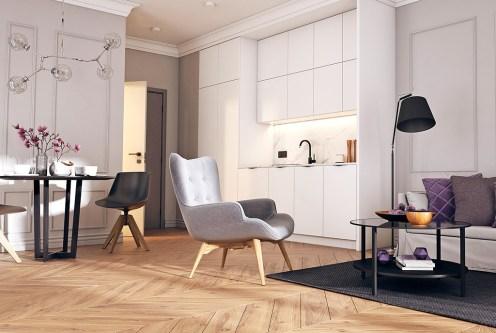nowoczesny salon w ekskluzywnym apartamencie do sprzedaży Świnoujście