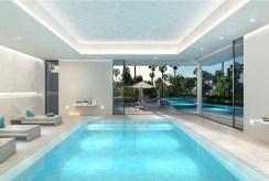 widok z innej perspektywy na basen przy luksusowym apartamencie do sprzedaży Hiszpania