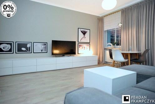 stylowy salon w ekskluzywnym apartamencie do sprzedaży Katowice (okolice)