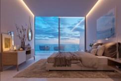 na zdjęciu elegancka sypialnia w luksusowym apartamencie do sprzedaży Hiszpania (Estepona, Malaga)