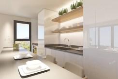 urządzona w nowoczesnym stylu kuchnia w luksusowym apartamencie do sprzedaży Hiszpania (Fuengirola, Costa del Sol)