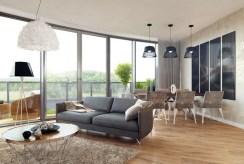 zdjęcie przedstawia fragment salonu w luksusowym apartamencie na wynajem Szczecin
