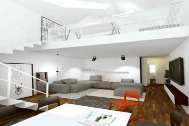 zaprojektowana w nowoczesnym stylu przestrzeń w luksusowym apartamencie do sprzedaży Poznań (okolice)