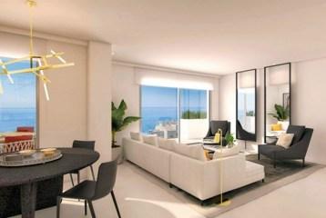 prestiżowy salon z tarasem widokowym w ekskluzywnym apartamencie do sprzedaży Benalmadena, Costa del Sol)