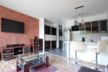 zaprojektowane w nowoczesnym designie wnętrze ekskluzywnego apartamentu do wynajęcia Szczecin
