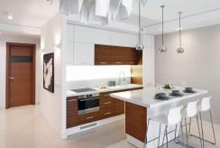 wykońćzona i zaprojektowana nowocześnie kuchnia w luksusowym apartamencie do sprzedaży Grudziądz
