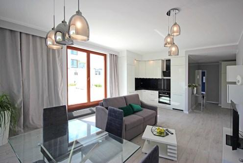 ekskluzywny salon w luksusowym apartamencie do wynajęcia Szczecin