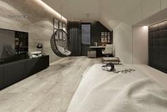 zaciszna sypialnia w luksusowym apartamencie do sprzedaży Częstochowa (okolice)