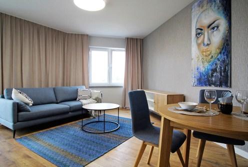 elegancki i prestiżowy salon w ekskluzywnym apartamencie do sprzedaży Kraków