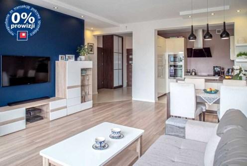 komfortowy salon w ekskluzywnym apartamencie do sprzedaży Bolesławiec