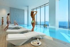 basen w częściach wspólnych apartamentowca, w którym znajduje się oferowany na sprzedaż luksusowy apartament Costa Blanca, Playa Poniente (Hiszpania)