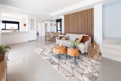 elegancki salon w ekskluzywnej willi do sprzedaży Hiszpania (Ciudad Quesad)
