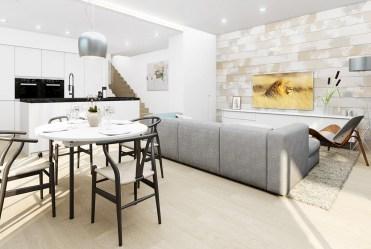 zaprojektowane w nowoczesnym stylu wnętrze ekskluzywnej willi do sprzedaży Hiszpania (Montesino)