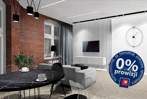 nowoczesny salon w ekskluzywnym apartamencie do sprzedaży Szczecin