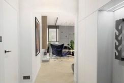 widok z holu na salon w luksusowym apartamencie do sprzedaży Ustroń