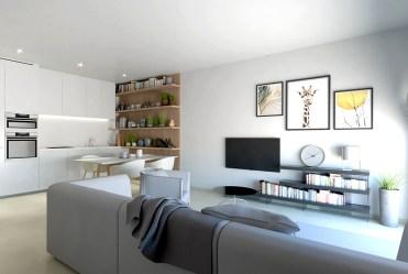 nowoczesny design salonu w ekskluzywnej willi do sprzedaży Hiszpania (San Pedro Del Pinata)