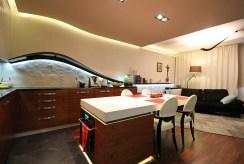 funkcjonalny aneks kuchenny w luksusowym apartamencie na sprzedaż Kraków
