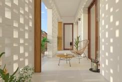 widok na taras przy luksusowym apartamencie na sprzedaż Hiszpania (Orihuel)