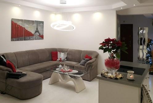 nowoczesny salon w ekskluzywnym apartamencie na sprzedaż Grudziądz