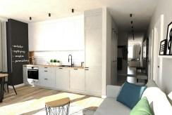 nowoczesna zabudowa kuchni w ekskluzywnym apartamencie na sprzedaż Ostrów Wielkopolski