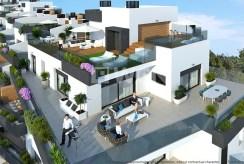rzut z lotu ptaka na całe osiedle, gdzie znajduje się oferowany na sprzedaż ekskluzywny apartament do sprzedaży Hiszpania